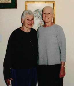 My Mother, a breast cancer survivor, and me in March 2006.  I was diagnosed Oct. 27, 2005.